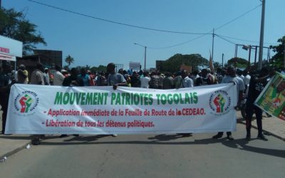 Marche des OSC: Mouvement Patriotes Togolais